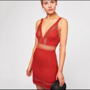 Free People Iris Mini Dress, Red Bodycon